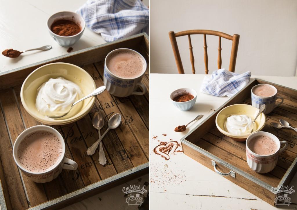 főzött habos kakaó az Emlékek Íze konyhájából