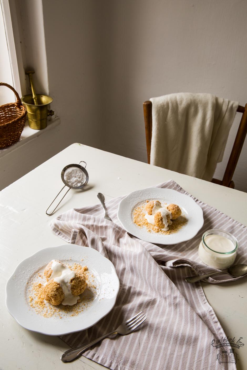 túrógombóc az Emlékek Íze konyhájából