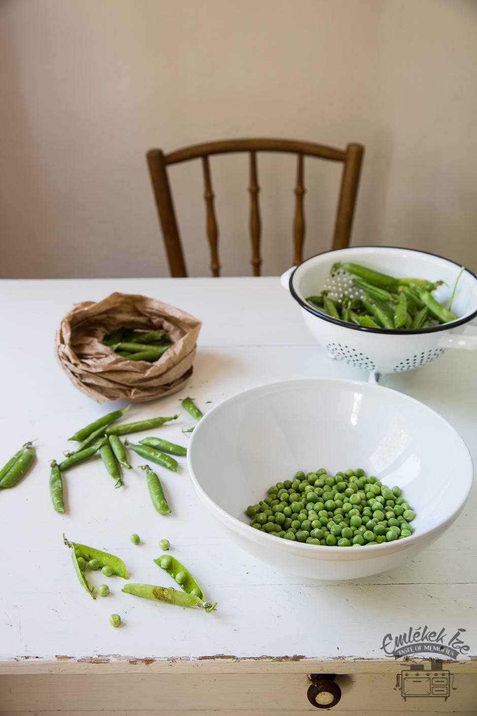 zöldborsófőzelék az Emlékek Íze konyhájából