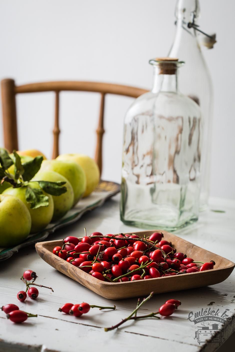 alma- és csipkebogyóbor az Emlékek Íze konyhájából www.emlekekize.hu
