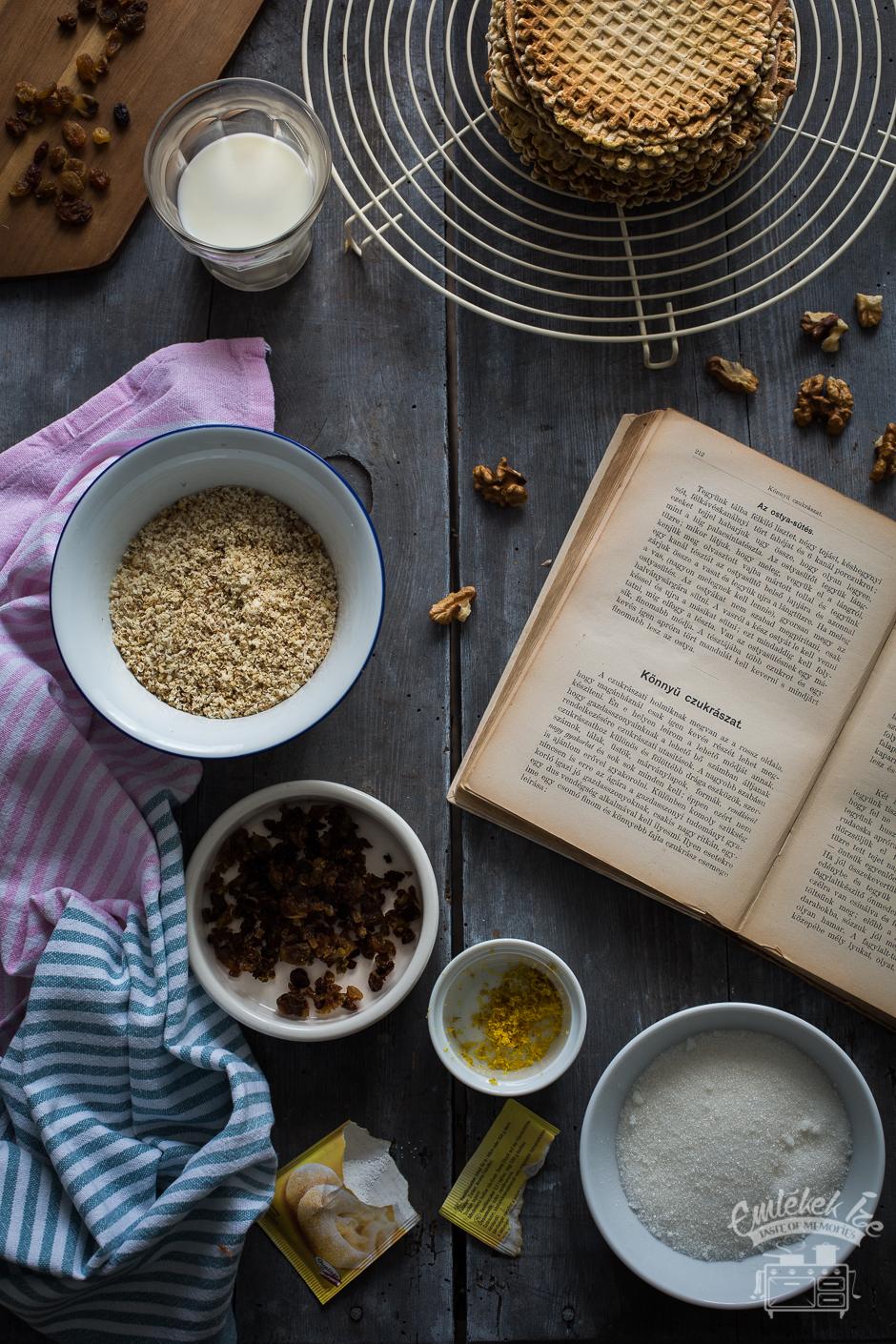 ostya recept 1891-ből az Emlékek Íze konyhájából
