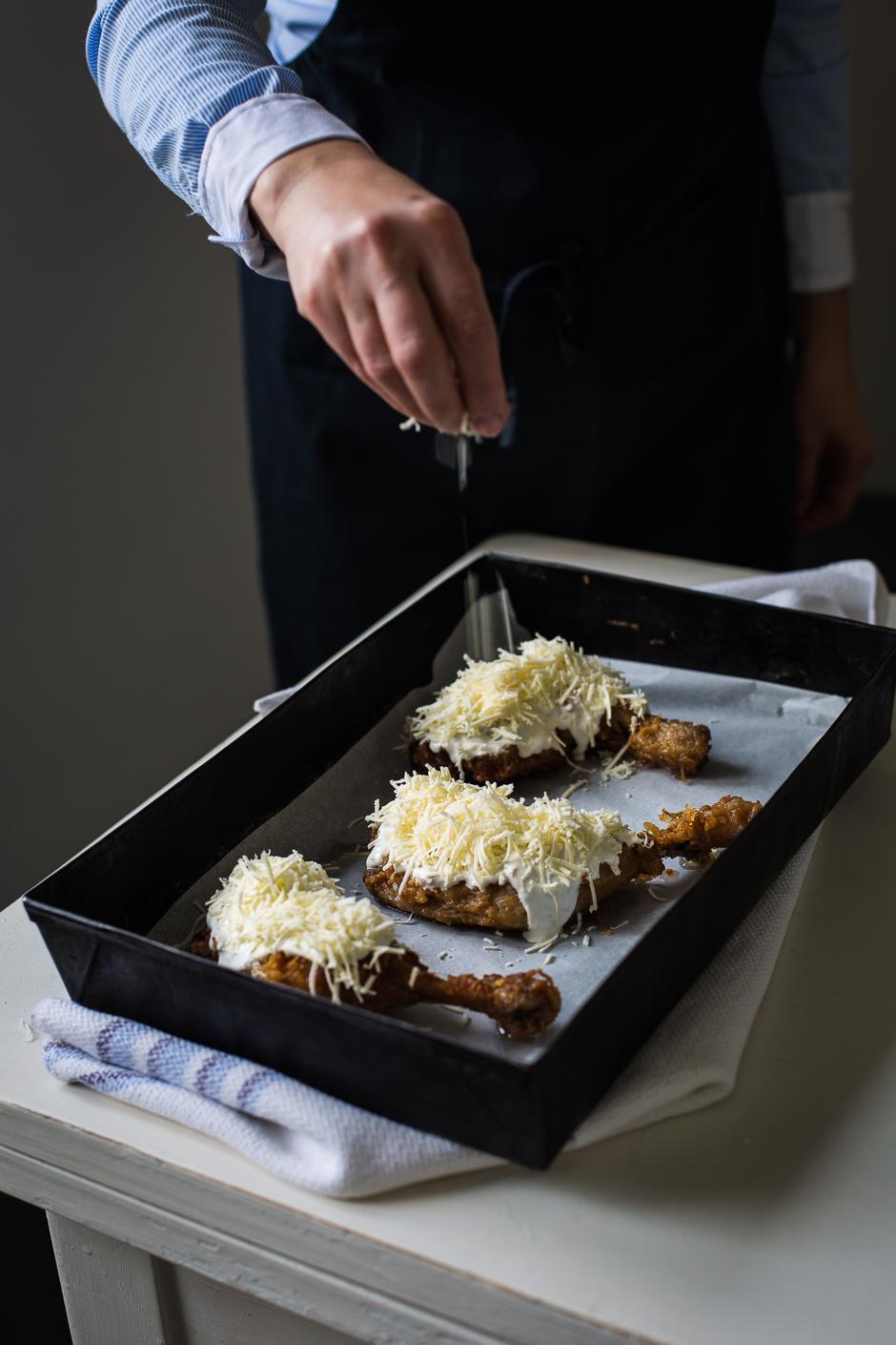 sajtos-tejfölös csirkecomb az Emlékek Íze konyhájából www.emlekekize.hu