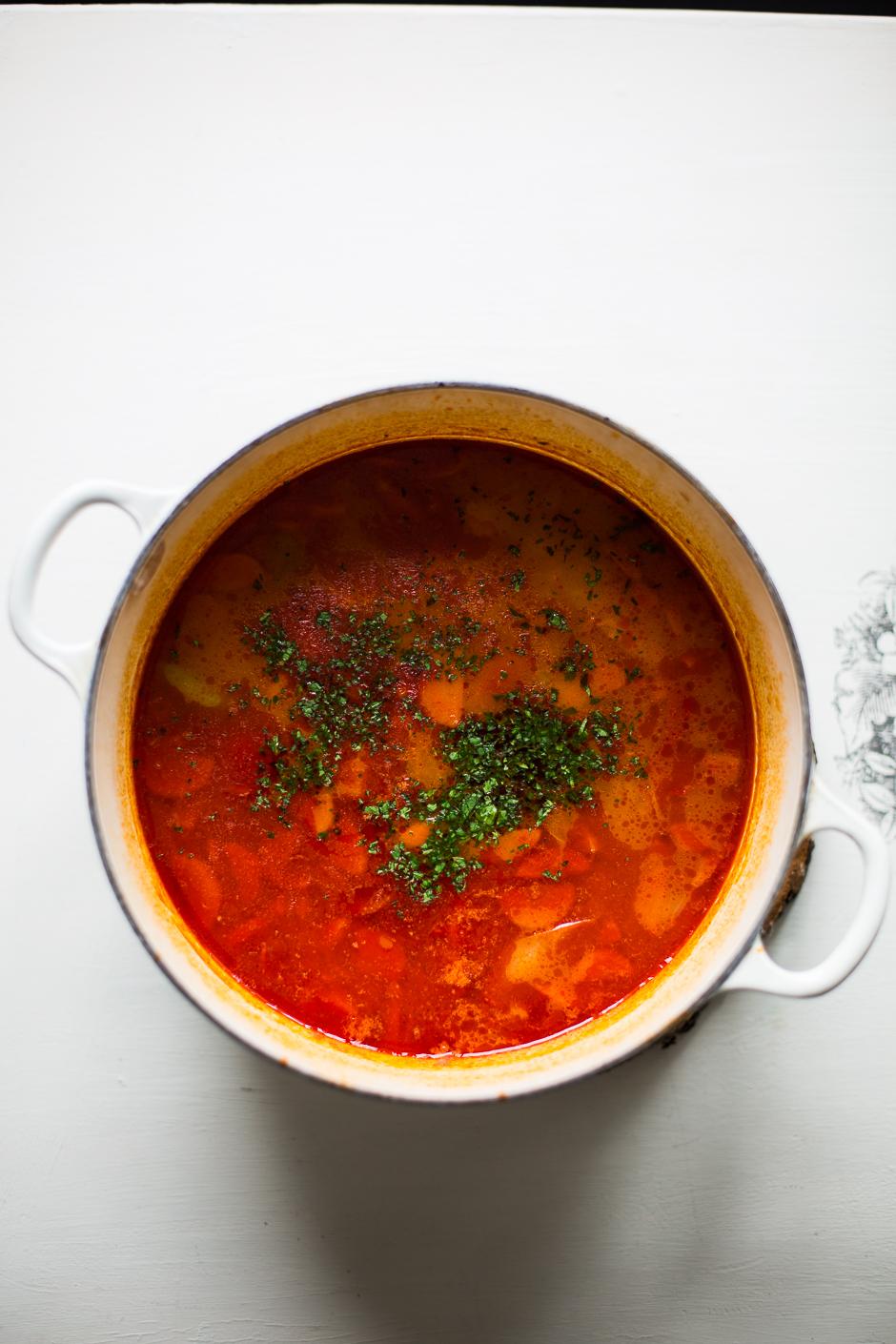 fejtett bableves az Emlékek Íze konyhájából www.emlekekize.hu