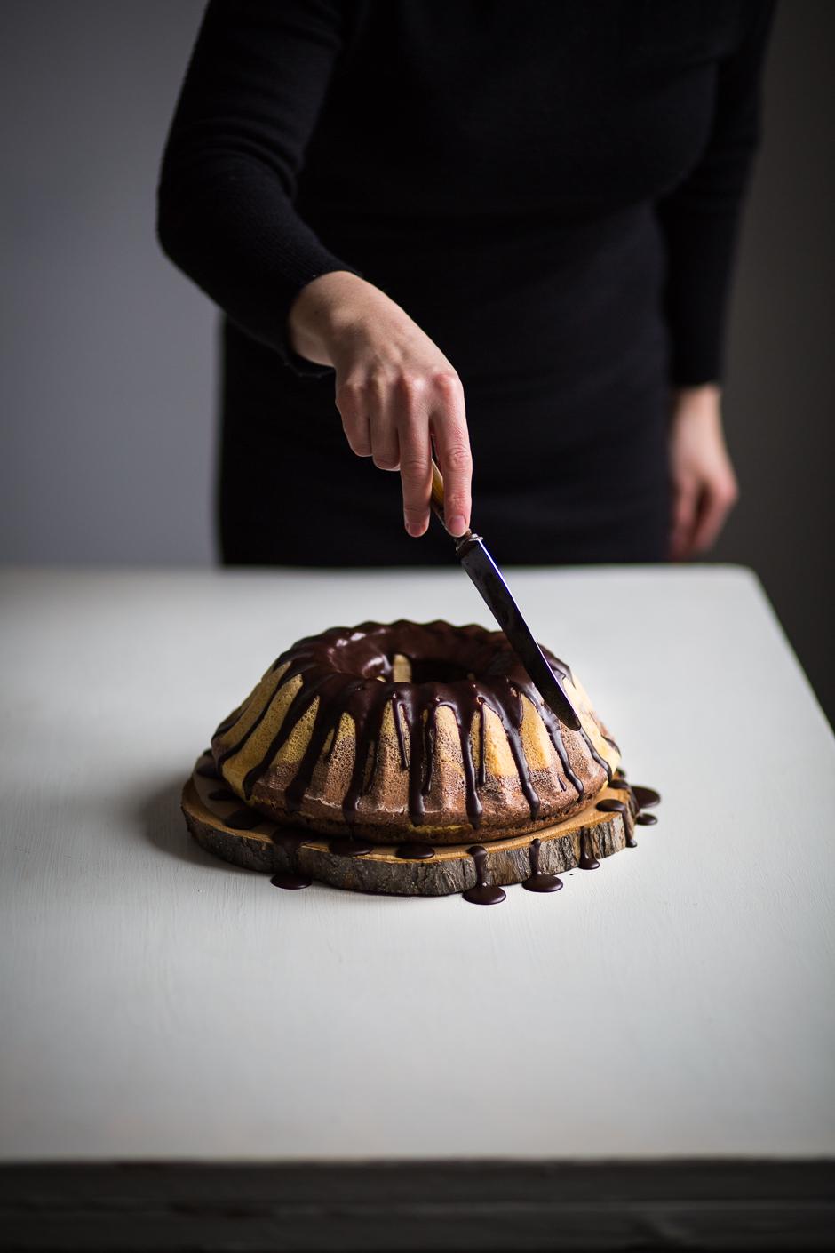 kelt csokoládés kuglóf az Emlékek Íze konyhájából www.emlekekize.hu